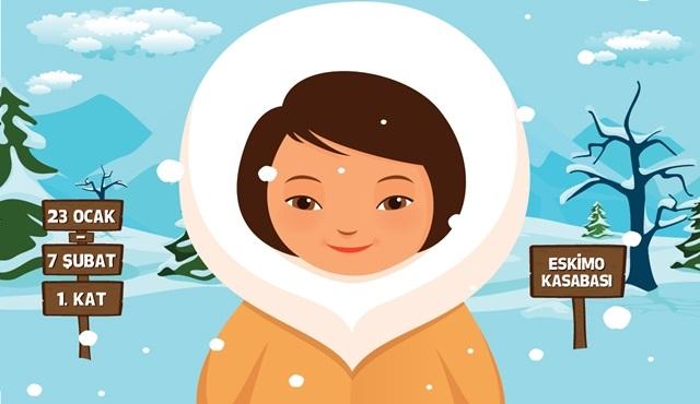 Çocuklara yarıyıl tatilinde 'Eskimo Kasabası' etkinliği!