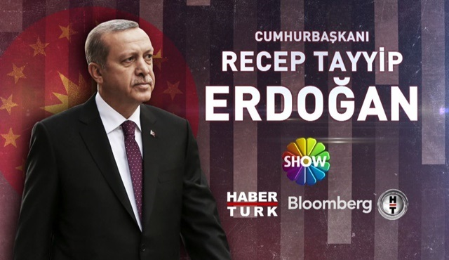 Recep Tayyip Erdoğan, Habertürk TV, Show TV ve Bloomberg HT ortak yayınına konuk olacak!