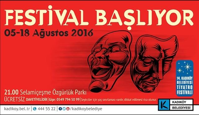 14. Kadıköy Belediyesi Tiyatro Festivali başlıyor!
