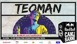 Teoman sahnede, Dream TV ve Redbull.com ortak canlı yayında!
