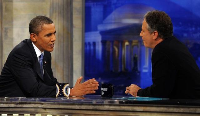 The Daily Show'un reytingleri Obama'yla birlikte yükseldi