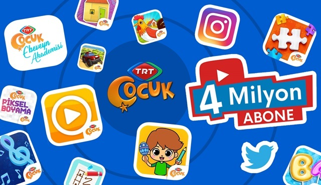 TRT Çocuk'un YouTube kanalı 4 milyon aboneyi geçti!