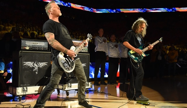 Golden State ve Cleveland'ın NBA Final serisine Metallica konuk oldu!