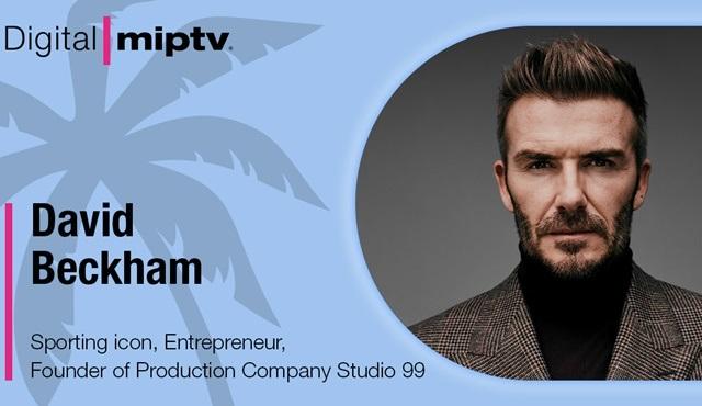 David Beckham, MIPTV'nin konuşmacılarının arasına katıldı