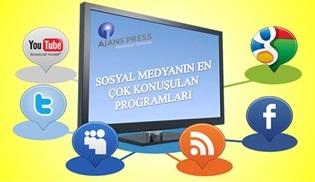 Sosyal medyanın en çok konuşulan programları belli oldu!