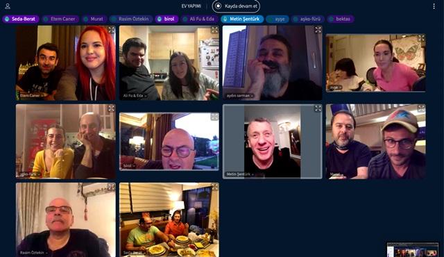 Ev Yapımı dizisinin oyuncuları online galada bir araya geldi!