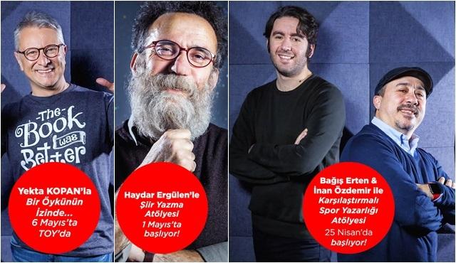 Haydar Ergülen, Yekta Kopan, Bağış Erten ve İnan Özdemir 3 farklı atölye ile Toy İstanbul'da!