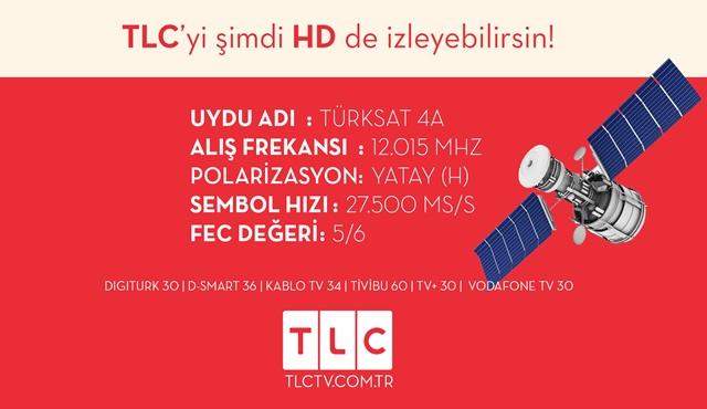Çok beklenen TLC HD kanalı bugün itibariyle yayında!