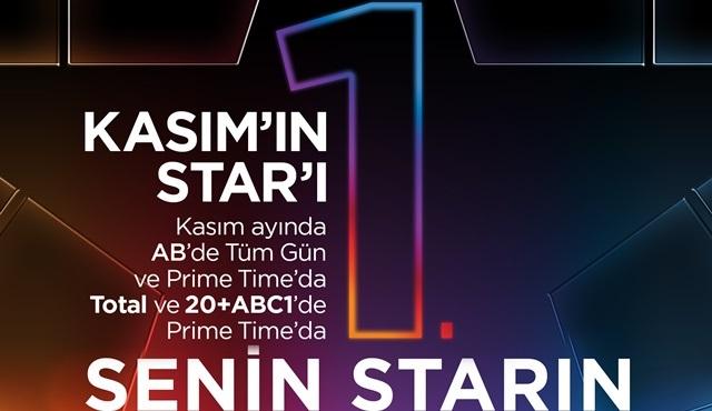 Star Tv Prime Time'da Kasım ayının en çok izlenen kanalı oldu!