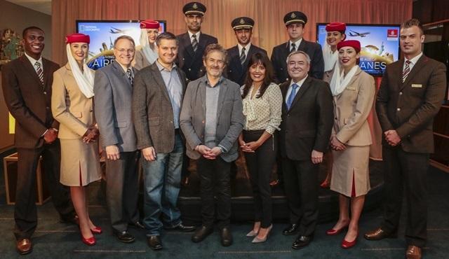 """""""Uçaklar Çağında Yaşamak"""" filminin ilk gösterimi Emirates A380 uçağında yapıldı!"""