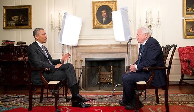 ABD Başkanı Barack Obama ve Sir David Attenborough söyleşiyor