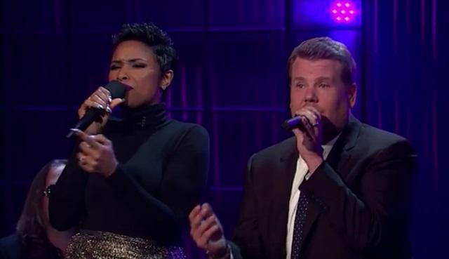 James Corden, Jennifer Hudson ile şarkı söyledi