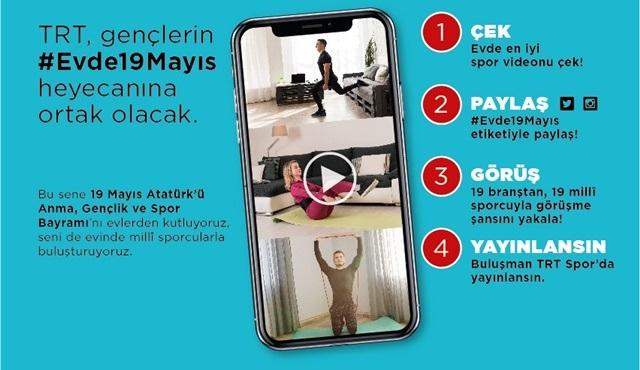 TRT, gençlerin #Evde19Mayıs heyecanına ortak olacak!