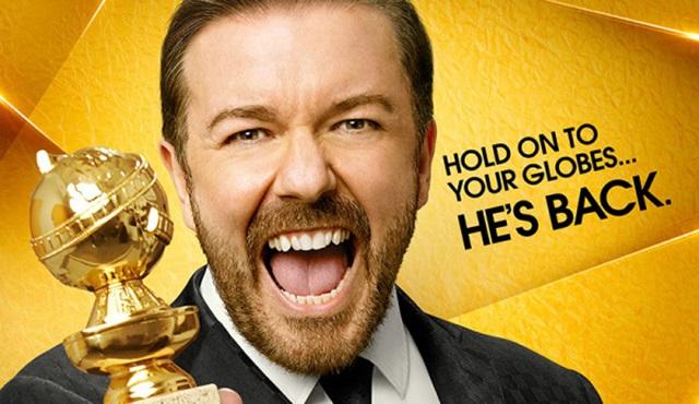 73. Altın Küre Ödülleri için Ricky Gervais'in yer aldığı bir poster geldi