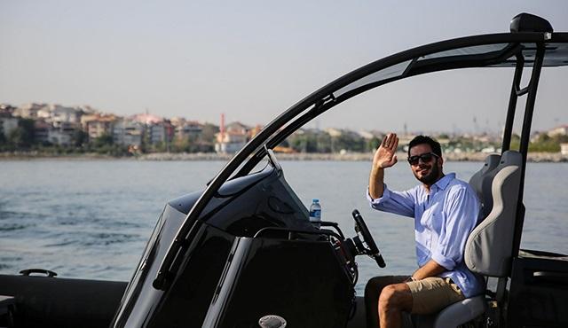 Barış Arduç film için sürat teknesi kullandı...