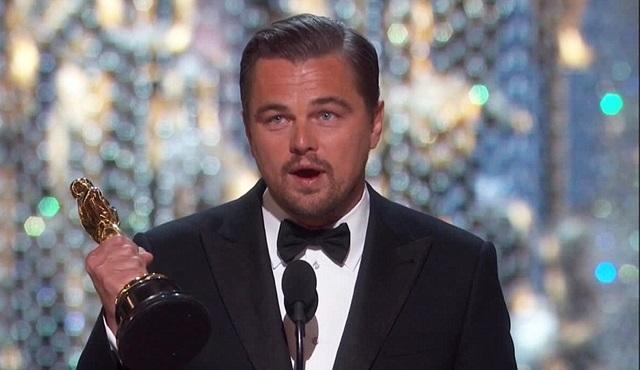 Leonardo DiCaprio Oscar'ı aldı Twitter'da rekor kırdı!