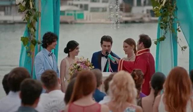 Medcezir mira yaman wedding