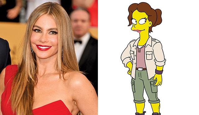 Sofia Vergara, The Simpsons'ta!