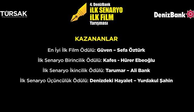 4. DenizBank İlk Senaryo İlk Film Yarışması'nın kazananları belli oldu!