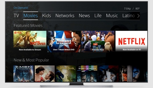 Netflix, Xfinity X1 cihazlara da geliyor