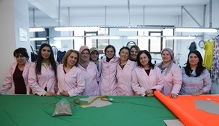 Kadın dizisinin atölye sahnesinde gerçek işçilerle çekim yapıldı!