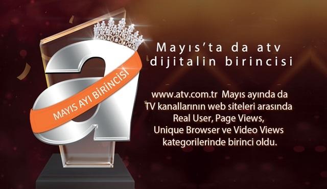 atv, Türkiye'nin en çok ziyaret edilen televizyon kanalı sitesi oldu!
