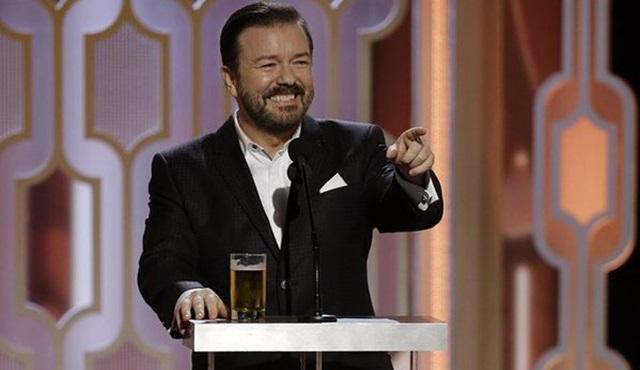 Ricky Gervais, 5. kez Altın Küre Ödülleri'nin sunuculuğunu üstlendi