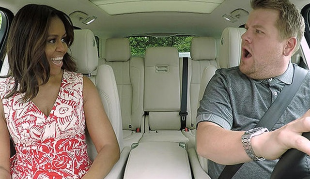 Michelle Obama, Carpool Karaoke'ye konuk oldu