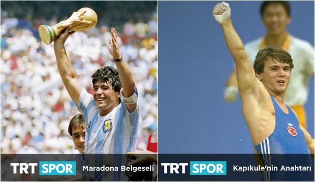 Naim Süleymanoğlu ve Diego Maradona belgeselleri hafta sonu TRT Spor'da!