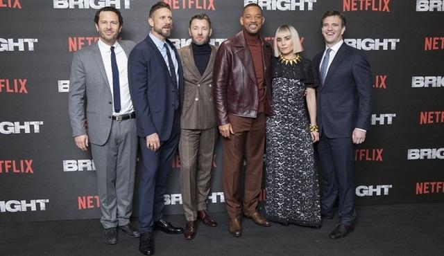 Netflix'in yeni filmi Bright'ın Avrupa prömiyeri Londra'da gerçekleştirildi