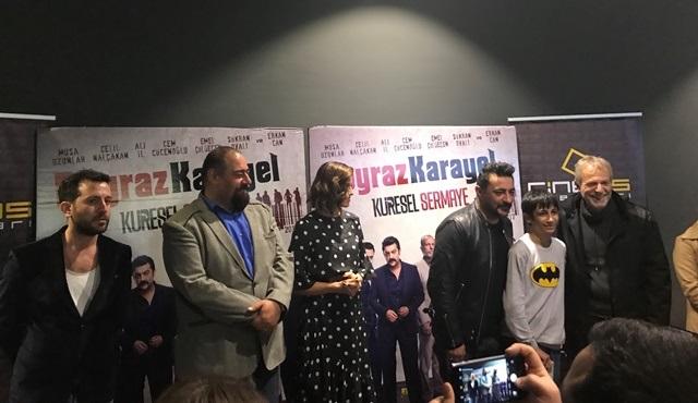 Poyraz Karayel Küresel Sermaye filminin İzmir galası yapıldı!