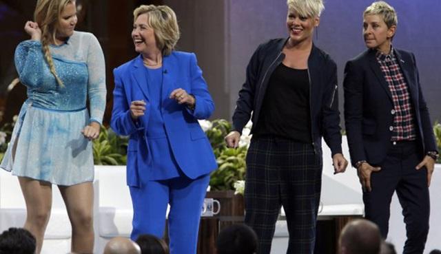 Hillary Clinton, The Ellen DeGeneres Show'da dans etti