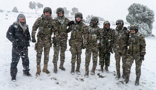 Savaşçı dizisinin çekimleri zor hava şartları altında Eskişehir'de devam ediyor!