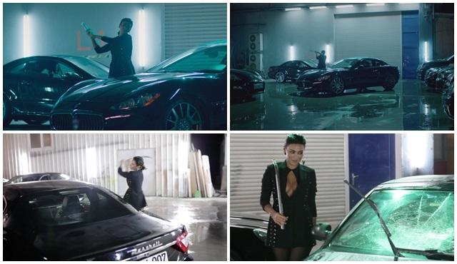 Röya ''Kesin Bilgi'' klibi için araba parçaladı!