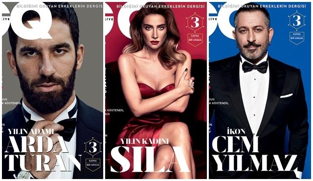 """GQ Türkiye Aralık sayısı 3 farklı """"Men Of The Year"""" kapağıyla çıktı!"""