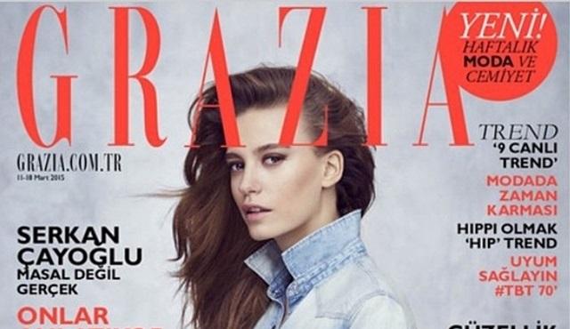Grazia, Serenay Sarıkaya kapağı ile yayına çıktı!