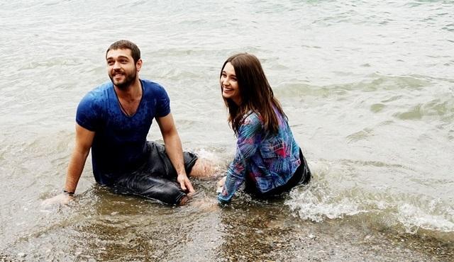 Leyla Lydia Tuğutlu ve Furkan Andıç, Tatlı İntikam için Sapanca Gölüne girdi!