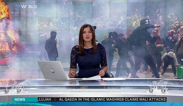 Avrupa'daki polis şiddetini dünyaya TRT World duyurdu!