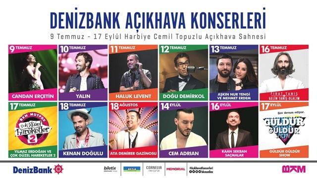 BKM organizasyonu Denizbank Açıkhava Konserleri başlıyor!