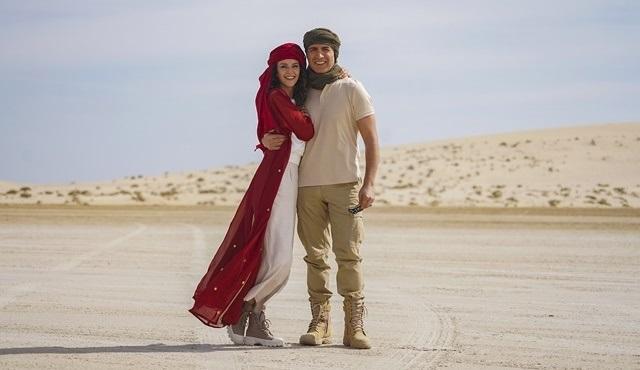 Özcan Deniz ve İrem Helvacıoğlu, Mesaieed Çölü'nde çekim yaptı!
