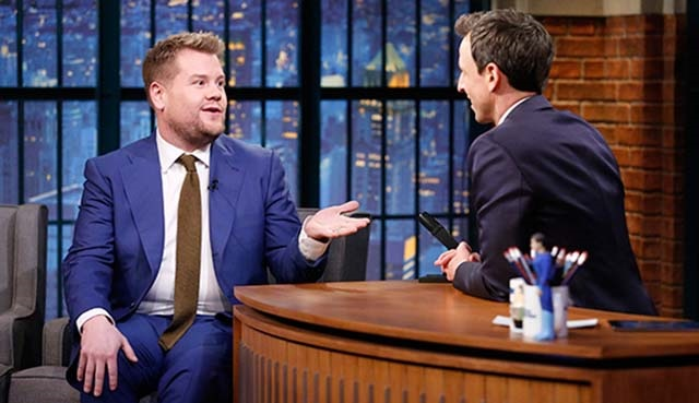 James Corden, Late Night with Seth Meyers'e konuk olacak