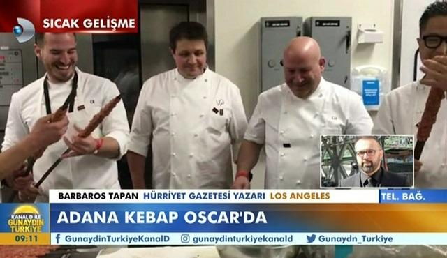 Oscar yemeği menüsünde bu sene Adana Kebap vardı!