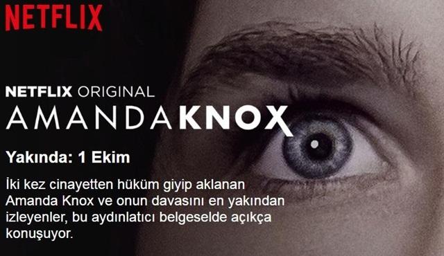 Netflix'in Amanda Knox belgesi yayına girmeye hazır