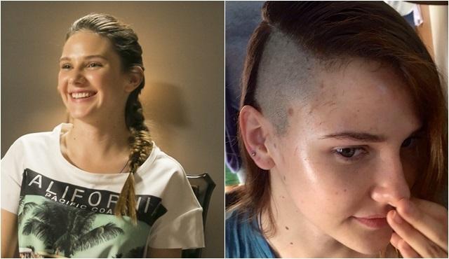 Paramparça'nın Hazal'ı Alina Boz, senaryo gereği saçlarını kazıttı!