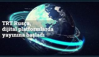 TRT Rusça dijital platformlarda yayın hayatına başladı!